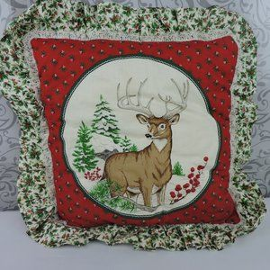 Other - Handmade Christmas Reindeer Pillow Nature Hunter
